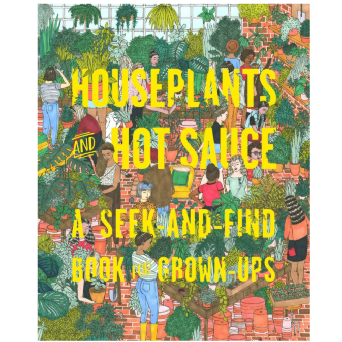 Houseplants and Hot Sauce Seek and Find Book for Grown Ups - Freshie & Zero Studio Shop