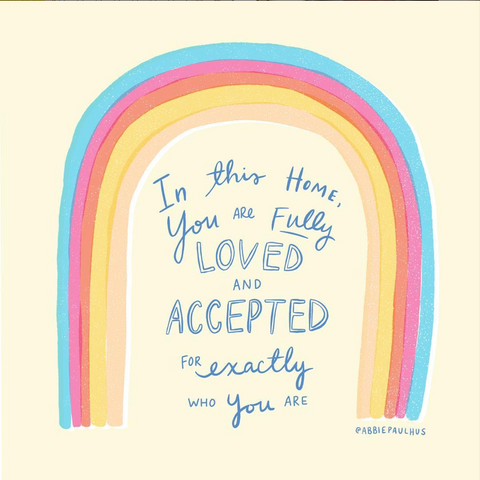 You are Fully Loved Art Print 8x10