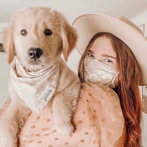 Cotton Face Covers (they match our Pet Bandanas!)