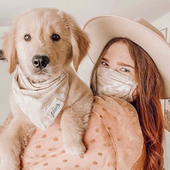 Cotton Face Covers (they match our Pet Bandanas!) - Freshie & Zero Studio Shop