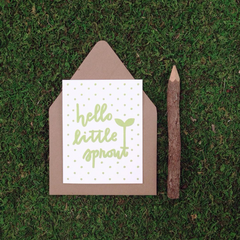 Hello Little Sprout New Baby Card - Freshie & Zero