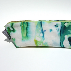 Hand Dyed Pencil Pouch - Freshie & Zero | artisan handmade hammered jewelry | handmade in Nashville, TN