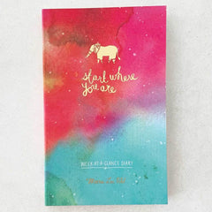 Start Where You Are Week-At-A-Glance Diary / Planner - Freshie & Zero Studio Shop