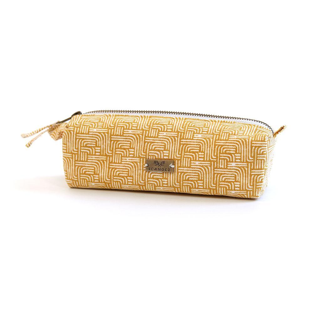 Pencil Pouch - Gold Stripes