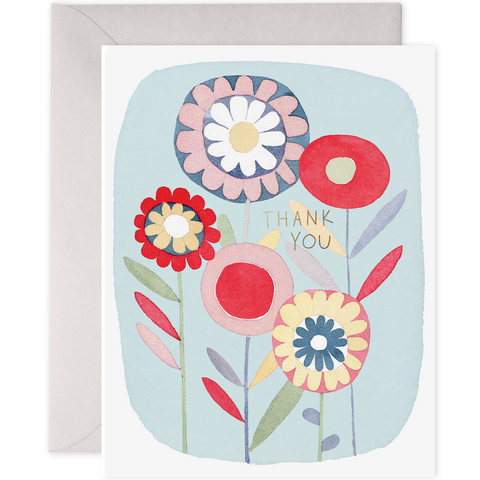 Boxed Set of Thank You Cards - Folky Flowers