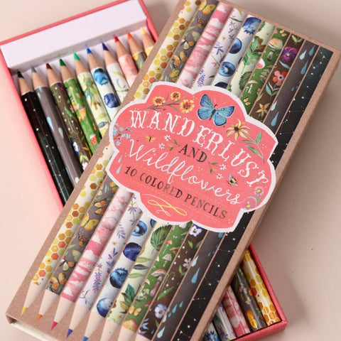 Wanderlust and Wildflowers - 10 Premium Colored Pencils