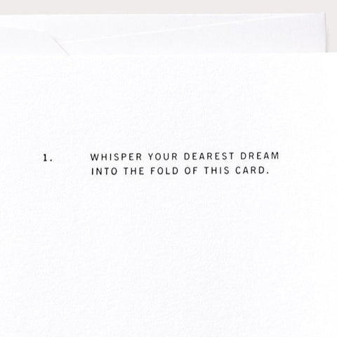 Whisper Your Dearest Dream Card by Noat Paper