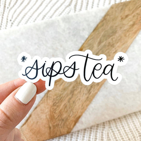 Sips Tea Sticker