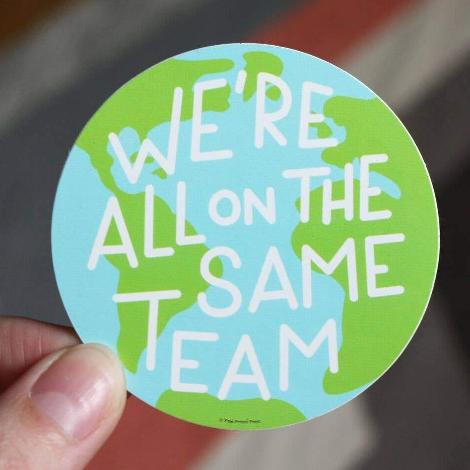 Same Team Earth Sticker - Freshie & Zero Studio Shop
