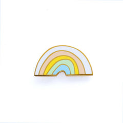 Old English Company - Rainbow Enamel Pin - Freshie & Zero | artisan handmade hammered jewelry | handmade in Nashville, TN