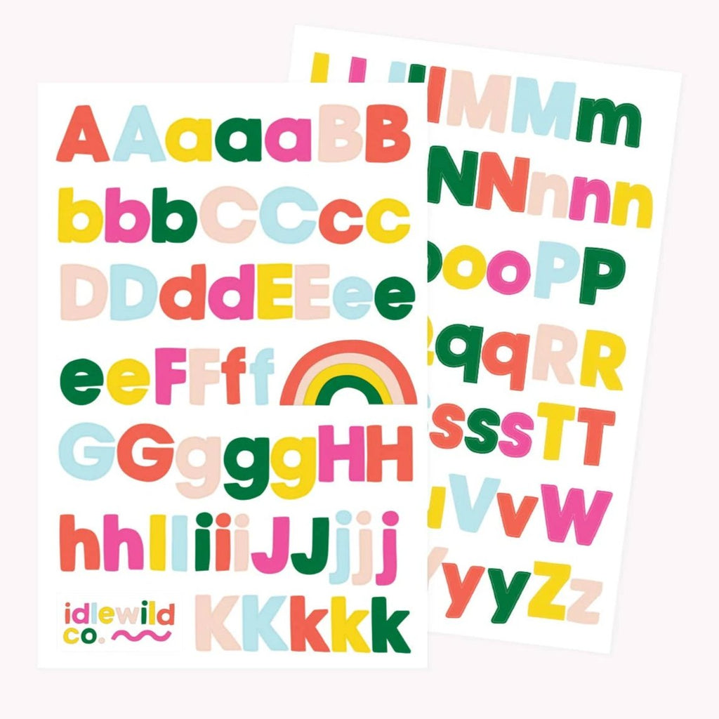 Idlewild - Sans Brights Alphabet Sticker Sheets