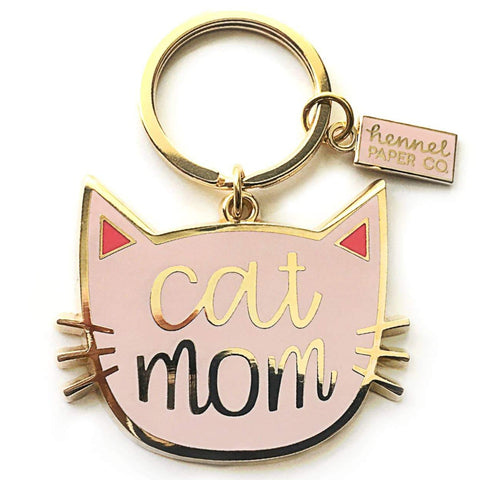 Cat Mom Keyring