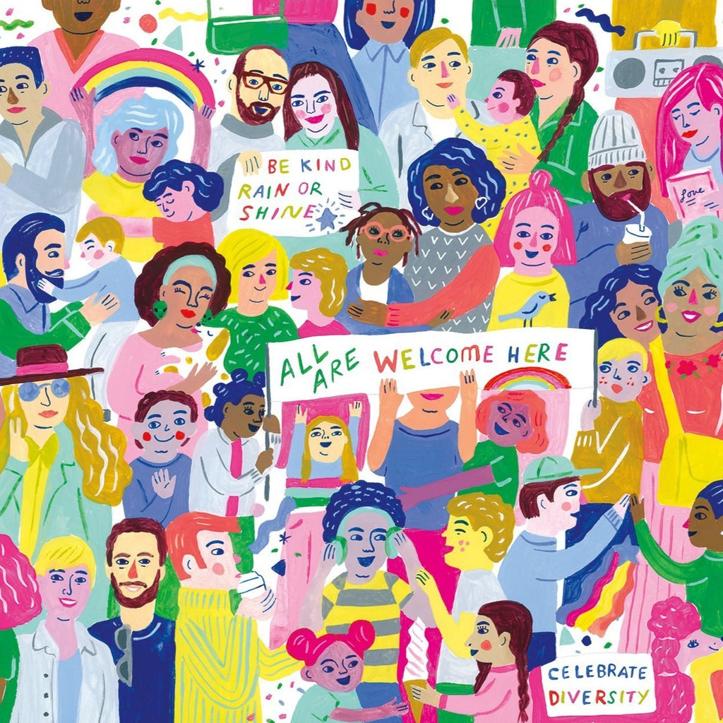 All Are Welcome Here 1000 Piece puzzle - Freshie & Zero Studio Shop