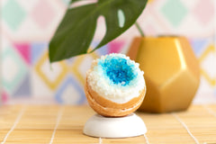 Whipped Up Wonderful - Crystal Geode Bath Bomb - Freshie & Zero | artisan handmade hammered jewelry | handmade in Nashville, TN