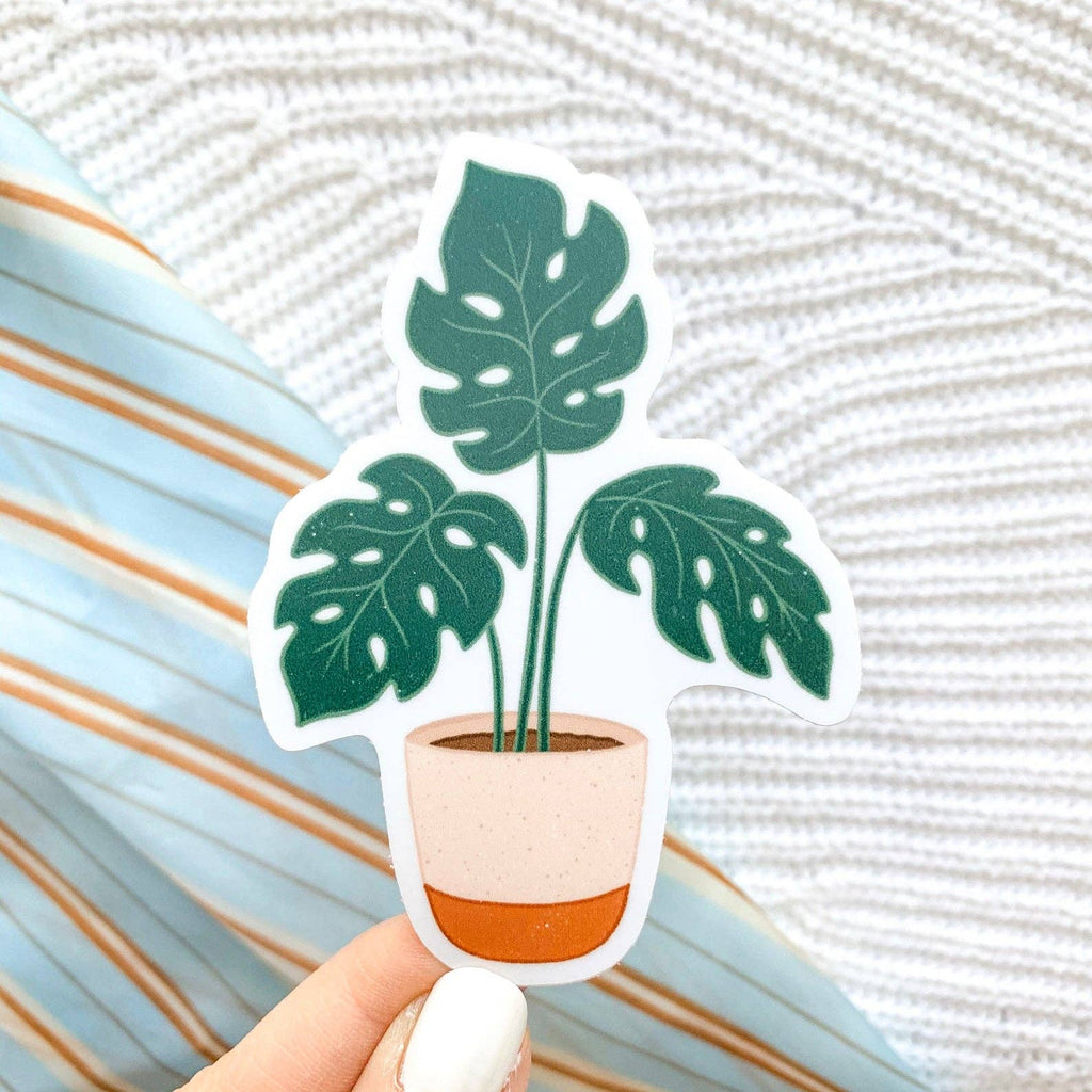 Potted Monstera Plant Sticker