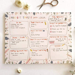 You Got this Notepad illustrated paper / curated unique gifts at Freshie & Zero