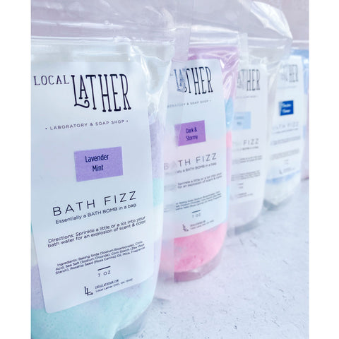 Bath Fizz Bath Bomb in a Bag - Dark & Stormy