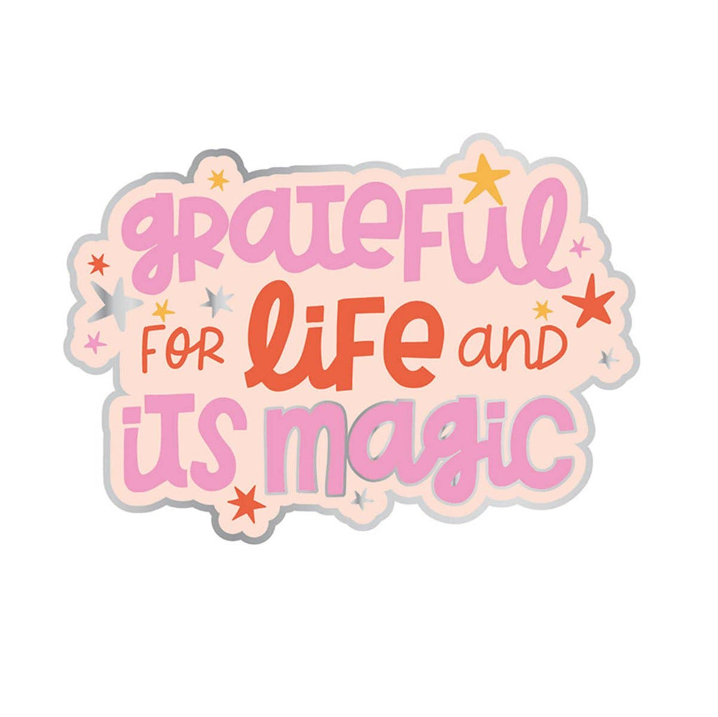 Grateful For Life Vinyl Sticker - Freshie & Zero