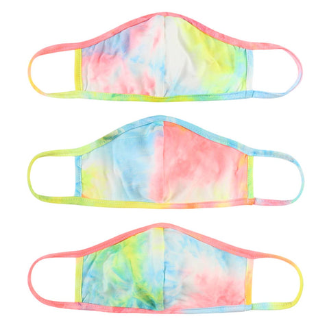 Super Soft Rainbow Tie Dye Adult Face Mask