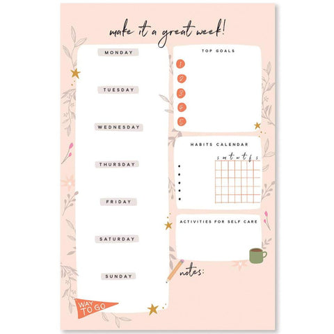 Make it a Great Week! Planner Notepad