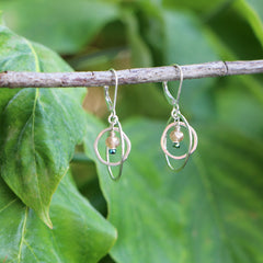 Cloud Forest Earrings - Freshie & Zero | artisan handmade hammered jewelry | handmade in Nashville, TN