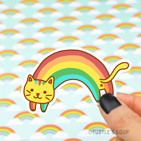 Rainbow Cat Vinyl Sticker