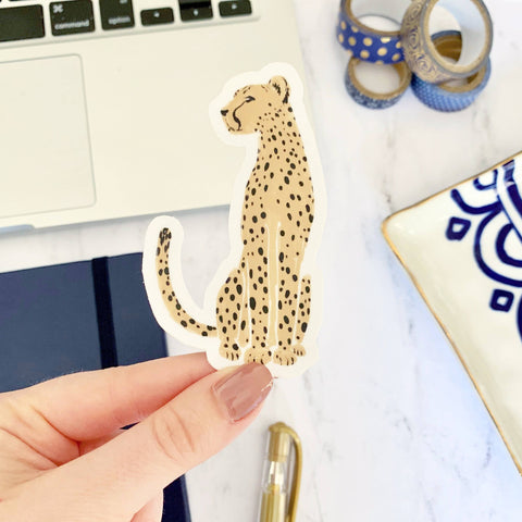 Untamed Cheetah Sticker