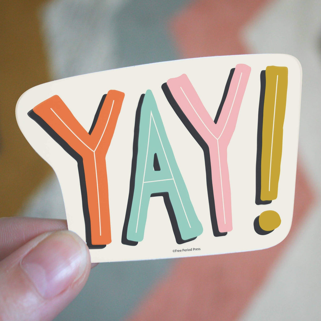 Yay Vinyl Sticker - Freshie & Zero Studio Shop
