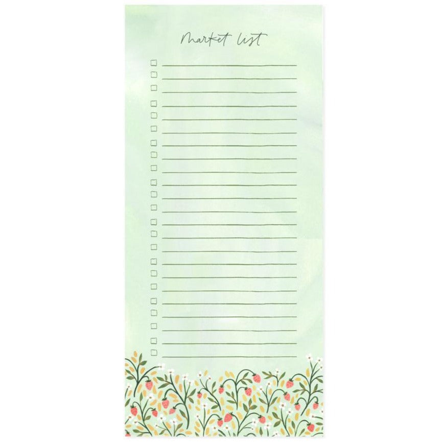 Strawberry Meadow Market List Notepad by 1canoe2 - Freshie & Zero