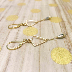 Starlight Mini Statement Gold Earrings - Freshie & Zero | artisan handmade hammered jewelry | handmade in Nashville, TN