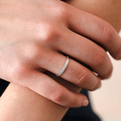Diamond Dusted Stacking Ring - Freshie & Zero Studio Shop