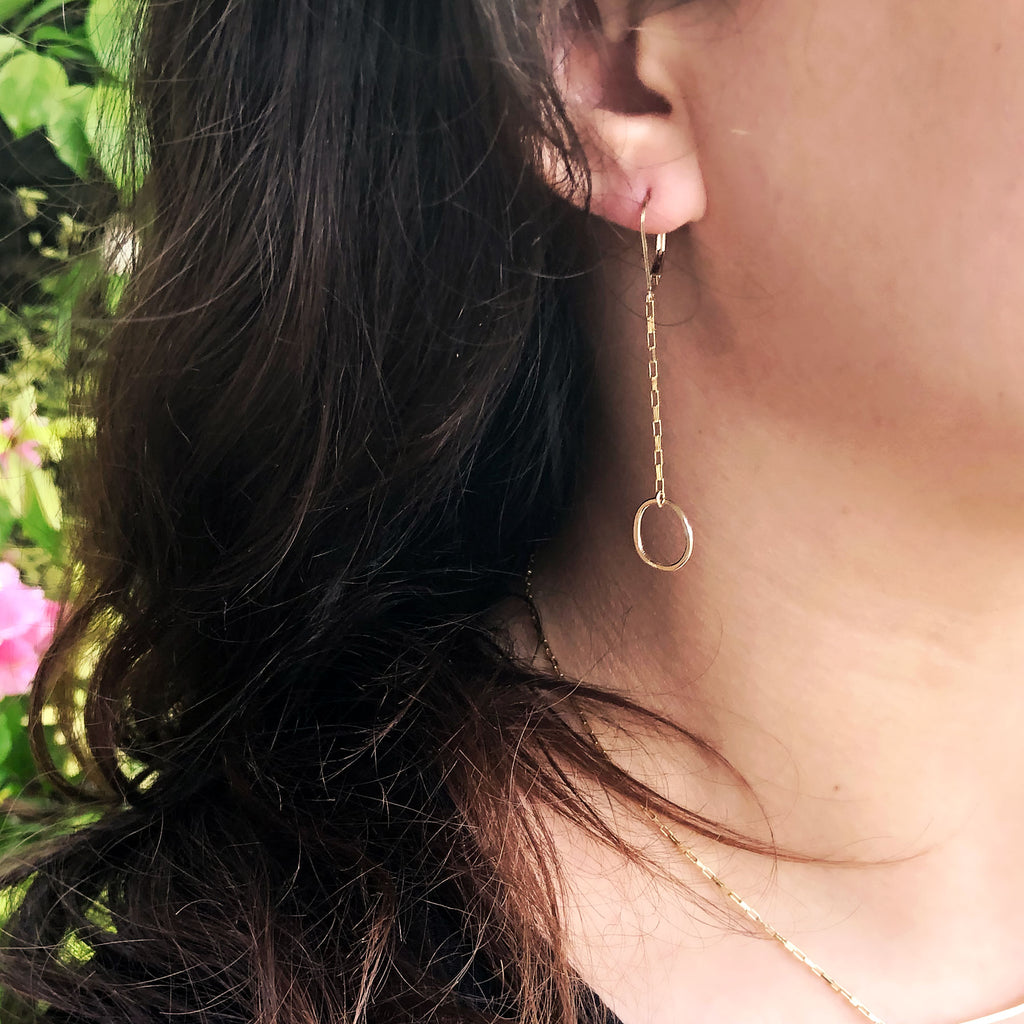 drift earrings - Freshie & Zero | artisan handmade hammered jewelry | handmade in Nashville, TN