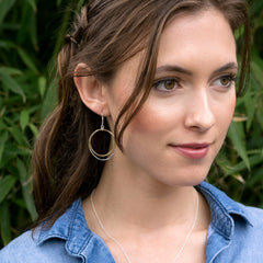 caldera earrings - Freshie & Zero | artisan handmade hammered jewelry | handmade in Nashville, TN