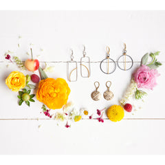 antique striped sweet earrings - Freshie & Zero Studio Shop