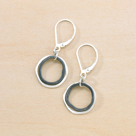 mini inky caldera earrings