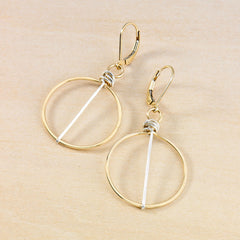 silver striped gold honey earrings - Freshie & Zero   - 1