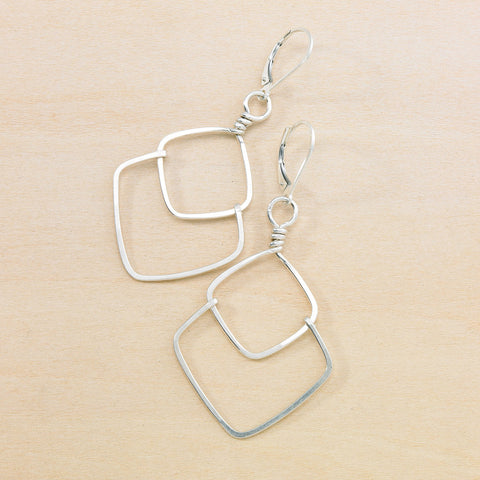little facet earrings