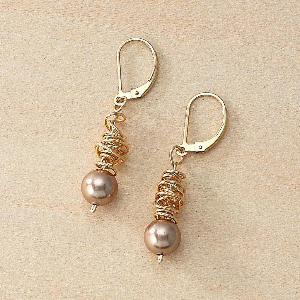 swirl earrings - Freshie & Zero  - 1