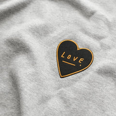 Old English Company - Love Heart Embroidered Patch - Freshie & Zero | artisan handmade hammered jewelry | handmade in Nashville, TN