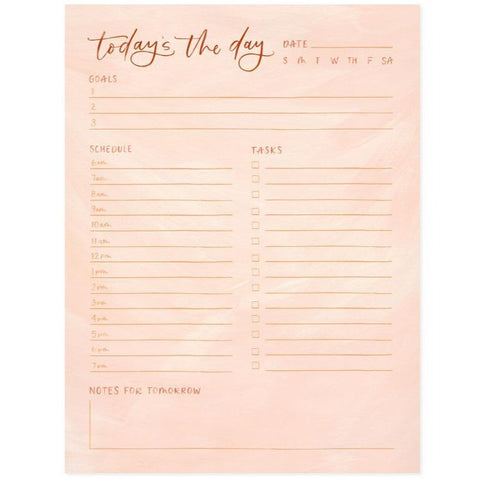 Peach Today's the Day Notepad by 1canoe2