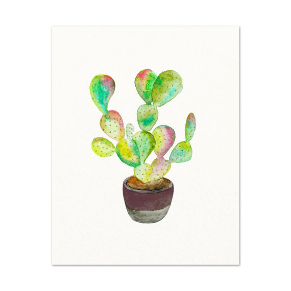 Snoogs & Wilde 5x7 Art - Cactus No.1 - Freshie & Zero Studio Shop