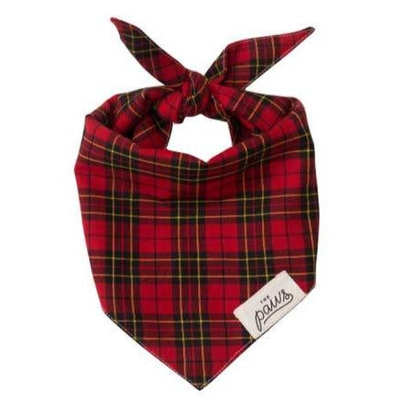 Pet Bandana - Classic Red Plaid