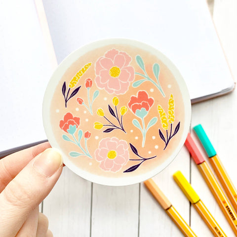 Watercolor Wildflower Sticker