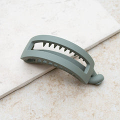 Rectangle Twist Hair Clip - Sage Green - Freshie & Zero Studio Shop