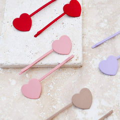 Big Heart Barrettes - Freshie & Zero Studio Shop