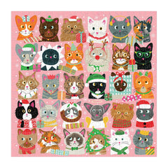 Festive Fur Balls Cat Puzzle 500 Pieces - Freshie & Zero Studio Shop