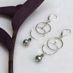 Grove Forest Earrings - Through the Trees - Freshie & Zero | artisan handmade hammered jewelry | handmade in Nashville, TN