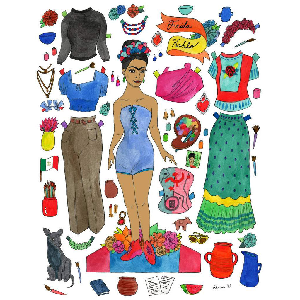 Frida Kahlo Paper Doll Signed Print