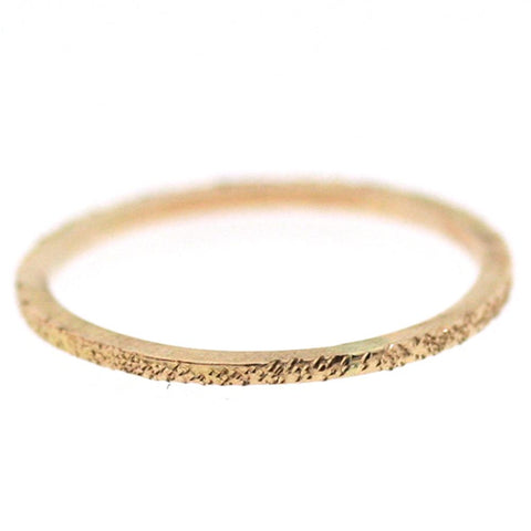Diamond Dusted Stacking Ring: Super Skinny