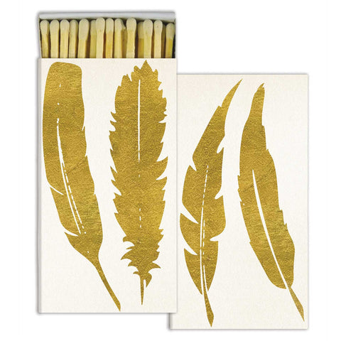 Gold Feather Box of Matches